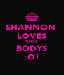 SHANNON  LOVES GIRLS BODYS :O! - Personalised Poster A4 size