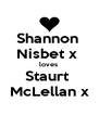 Shannon  Nisbet x  loves  Staurt  McLellan x - Personalised Poster A4 size