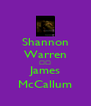 Shannon Warren ♡♡ James McCallum - Personalised Poster A4 size