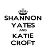 SHANNON YATES AND KATIE CROFT - Personalised Poster A4 size