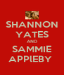 SHANNON YATES AND SAMMIE APPlEBY  - Personalised Poster A4 size