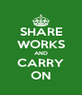 SHARE WORKS AND CARRY ON - Personalised Poster A4 size