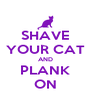 SHAVE YOUR CAT AND PLANK ON - Personalised Poster A4 size