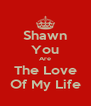 Shawn You Are The Love Of My Life - Personalised Poster A4 size