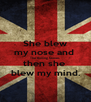 She blew my nose and  The Rolling Stones then she  blew my mind. - Personalised Poster A4 size