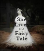 She Lives In A Fairy Tale - Personalised Poster A4 size