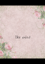 She smiled - Personalised Poster A4 size