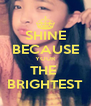 SHINE BECAUSE YOUR THE  BRIGHTEST - Personalised Poster A4 size