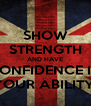 SHOW STRENGTH AND HAVE CONFIDENCE IN YOUR ABILITY! - Personalised Poster A4 size