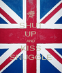 SHUT UP AND KISS SNUGGLE - Personalised Poster A4 size