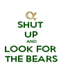 SHUT  UP AND LOOK FOR  THE BEARS - Personalised Poster A4 size