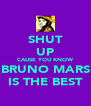 SHUT UP CAUSE YOU KNOW BRUNO MARS IS THE BEST - Personalised Poster A4 size