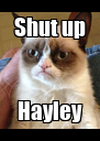 Shut up Hayley - Personalised Poster A4 size