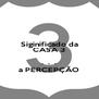 Siginificado da CASA 3  .  .  . a PERCEPÇÃO - Personalised Poster A4 size