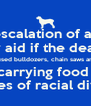 signaling a possible de-escalation of an aerial battle that has le and military aid if the deal falls apart  have used bulldozers, chain saws and now cargo transport plane carrying food rations and water was policies of racial division - Personalised Poster A4 size
