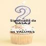 Significado da CASA 2  .  .  . os VALORES - Personalised Poster A4 size