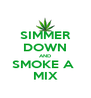 SIMMER DOWN AND SMOKE A  MIX - Personalised Poster A4 size