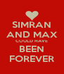 SIMRAN AND MAX COULD HAVE BEEN FOREVER - Personalised Poster A4 size