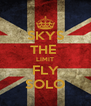 SKYS THE  LIMIT FLY SOLO - Personalised Poster A4 size