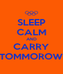 SLEEP CALM AND CARRY TOMMOROW - Personalised Poster A4 size
