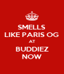 SMELLS LIKE PARIS OG AT BUDDIEZ NOW - Personalised Poster A4 size