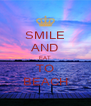 SMILE AND EAT TO BEACH - Personalised Poster A4 size