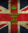 SMOKE PIFF AND GET LEEN - Personalised Poster A4 size