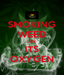 SMOKING WEED LIKE ITS OXYGEN - Personalised Poster A4 size