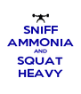 SNIFF AMMONIA AND SQUAT HEAVY - Personalised Poster A4 size
