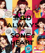 SNSD ALWAYS IN SONE's HEART - Personalised Poster A4 size