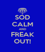SOD CALM AND FREAK OUT! - Personalised Poster A4 size