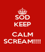 SOD KEEP  CALM SCREAM!!!! - Personalised Poster A4 size