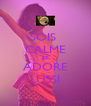 SOIS  CALME ET ADORE LUSSI - Personalised Poster A4 size