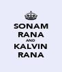 SONAM RANA AND KALVIN RANA - Personalised Poster A4 size