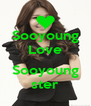 Sooyoung Love  Sooyoung ster - Personalised Poster A4 size