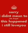 sorry i didnt mean to  lets forget this happened i still loveyou - Personalised Poster A4 size
