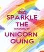 SPARKLE THE RAINBOW UNICORN  QUING - Personalised Poster A4 size
