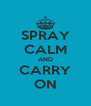 SPRAY CALM AND CARRY ON - Personalised Poster A4 size
