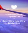 Sretan Rodjendan i ugodan Let :-) Zele ti Zora, Nela, Mira, Sanda i Dino - Personalised Poster A4 size