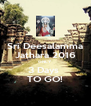 Sri Deesalamma Jathara 2016 ONLY  3 Days  TO GO! - Personalised Poster A4 size