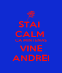 STAI  CALM  CA MINTENAS VINE ANDREI - Personalised Poster A4 size