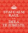 STAI CALM RAUL CA  DEEA TE IUBESTE  - Personalised Poster A4 size