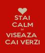 STAI CALM SI VISEAZA  CAI VERZI - Personalised Poster A4 size