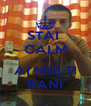 STAI  CALM TU  AI MULTI BANI - Personalised Poster A4 size