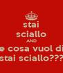 stai sciallo AND che cosa vuol dire stai sciallo??? - Personalised Poster A4 size