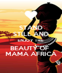 STAND STILL AND ENJOY THE BEAUTY OF  MAMA AFRICA - Personalised Poster A4 size