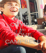 START CRYING AND LOVE CAMPBELL - Personalised Poster A4 size