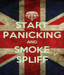 START PANICKING AND SMOKE SPLIFF - Personalised Poster A4 size
