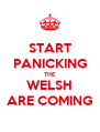 START PANICKING THE WELSH ARE COMING - Personalised Poster A4 size