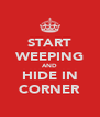 START WEEPING AND HIDE IN CORNER - Personalised Poster A4 size